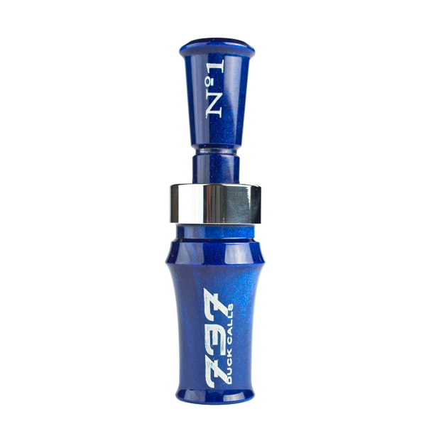 737 No.1 Duck Call - Blue Pearl / Stainless / Blue Pearl